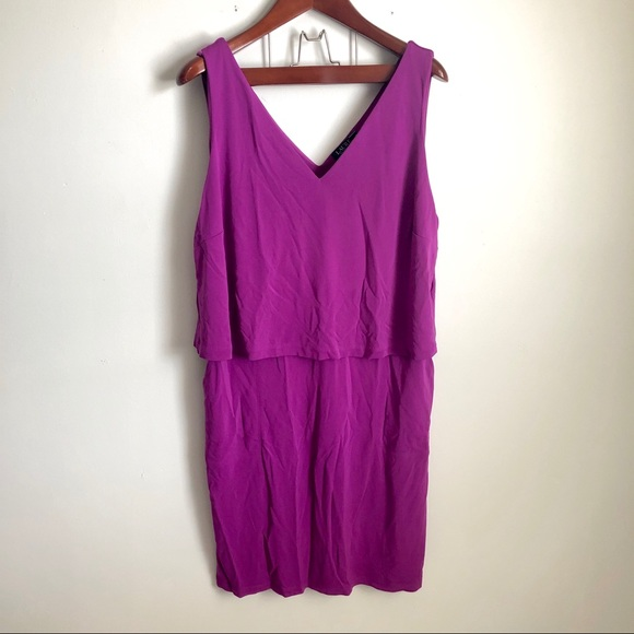 Ralph Lauren Dresses & Skirts - NWT Lauren Ralph Lauren Tiered Purple Jersey Dress